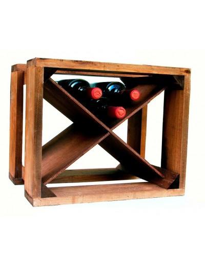 Cantinetta Portabottiglie legno