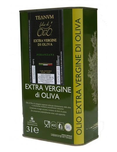 Olio Extravergine di Oliva Teanum Lt. 3